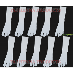 Taj 3mm Reusable Acrylic Leg for Mehandi Practice Use Both Side 10 Pc