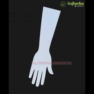 Taj 3mm Reusable Acrylic hand for Mehandi Practice Use Both Side - 1 Pcs