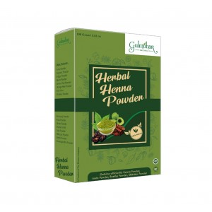Gulmohar 100% Organic Herbal Hair Henna Powder For Hair color and Conditioning - 200G