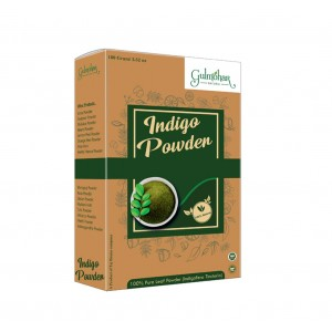 Gulmohar 100% Organic Indigo Powder For Hair Care | Hair Color | Natural Black -200 GM