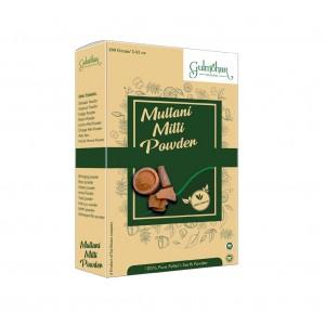 Gulmohar 100% Natural Multani Mitti (Bentonite Clay) face Pack Powder For Growing Dry Skin - 200GM