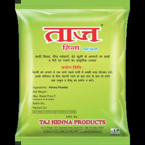 Taj 100% Pure Natural Henna Powder Pack - 500gm